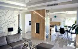 Dom w Amarantusach : styl , w kategorii Jadalnia zaprojektowany przez Abakon sp. z o.o. spółka komandytowa