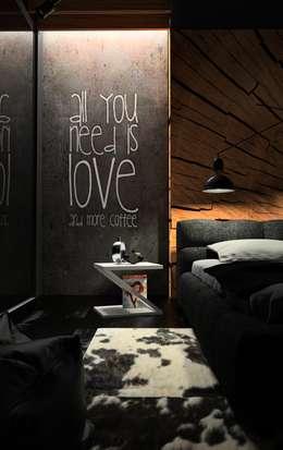 Czarna sypialnia: styl , w kategorii Sypialnia zaprojektowany przez OES architekci