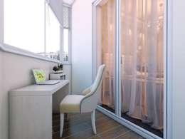 Квартира в  Озерках.: Tерраса в . Автор – Студия дизайна Elena-art