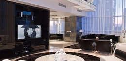 Torre Aura Altitud: Salas multimedia de estilo moderno por STUDIO ALMEIDA DESIGN
