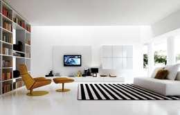 Ysk Tadilat – Daire Tasarımı: minimal tarz tarz Oturma Odası
