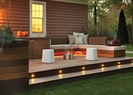 EcoSmart Fire kominki ekologiczne z Australii: styl , w kategorii Taras zaprojektowany przez ilumia.pl