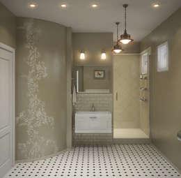 Projekty,  Łazienka zaprojektowane przez Center of interior design