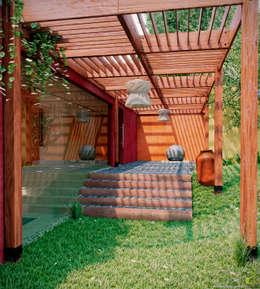 Jardín de estilo  por arQing