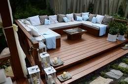 Zabudowa ogrodowa - podest wypoczynkowy.: styl , w kategorii Ogród zaprojektowany przez CAROLINE'S DESIGN