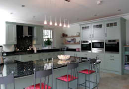 Hand painted traditional kitchen in Hertfordshire: classic Kitchen by John Ladbury and Company