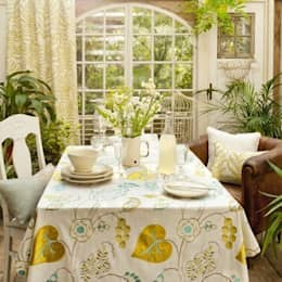 country Dining room by Curtains Made Simple