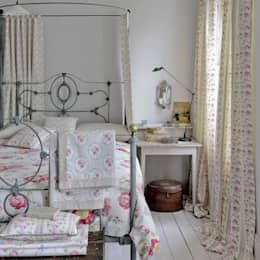 country Bedroom by Curtains Made Simple