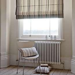 Curtains Made Simple: iskandinav tarz tarz Oturma Odası