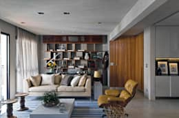 Livings de estilo moderno por DIEGO REVOLLO ARQUITETURA S/S LTDA.