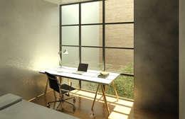 Casa Ocejo: Recámaras de estilo industrial por Lozano Arquitectos