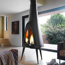 1001Keyif.com –  Pow Wow Şömine Soba: modern tarz Oturma Odası