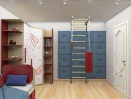 Дизайн-проект двухкомнатной квартиры: Детские комнаты в . Автор – Студия дизайна и декора Светланы Фрунзе