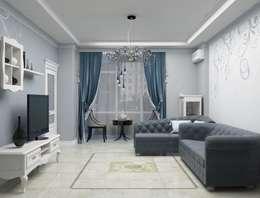 Дизайн-проект квартиры в классическом стиле: Гостиная в . Автор – Студия дизайна и декора Светланы Фрунзе