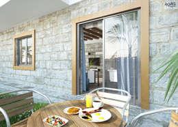Terrazza in stile  di ROAS ARCHITECTURE 3D DESIGN
