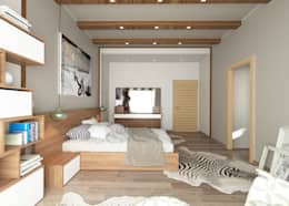 ROAS ARCHITECTURE 3D DESIGN – The Bedroom View2: modern tarz Yatak Odası