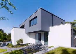 Projekty, minimalistyczne Domy zaprojektowane przez Gritzmann Architekten