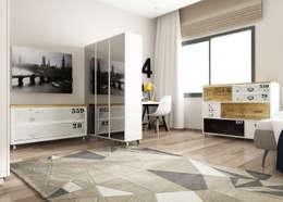 ROAS ARCHITECTURE 3D DESIGN – The Bedroom View2: modern tarz Yatak Odası
