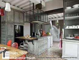 cuisine ilot central: Cuisine de style de style eclectique par Tabary Le Lay