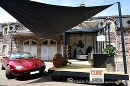 Un CUBE dans mon jardin: Jardin de style de style Moderne par Tabary Le Lay