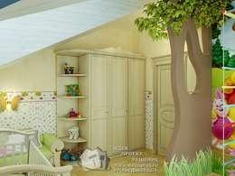 Веселая детская с мультипликационными героями: Детские комнаты в . Автор – Бюро домашних интерьеров