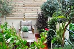 ésverd - jardineria & paisatgismeが手掛けたベランダ