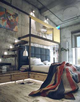 industrial Bedroom by ToTaste.studio