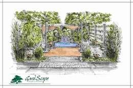 de estilo  por -GardScape- private gardens by Christoph Harreiß
