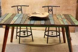 Buiten- of binnnentafel van boothout: mediterrane Tuin door Ars Longa