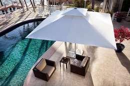 Akbrella Şemsiye San. ve Tic. A.Ş – 300x300cm Havuz şemsiyeleri: tropikal tarz tarz Bahçe