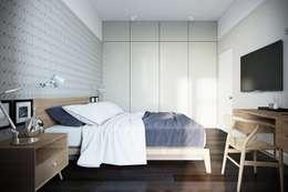 NK design studio: iskandinav tarz tarz Yatak Odası