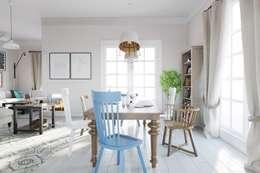 Дизайн дома в скандинавском стиле 160 м2 . Новосибирск: Столовые комнаты в . Автор – NK design studio