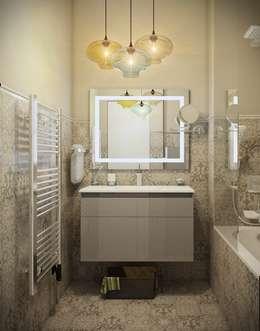 Дизайн квартиры г.Москва : Ванные комнаты в . Автор – NK design studio