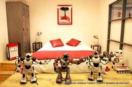 chambre parentale: Chambre de style de style eclectique par Tabary Le Lay