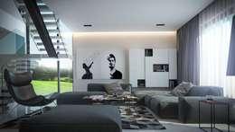 Загородный дом в Краснодаре: Гостиная в . Автор – NK design studio