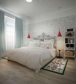 Biriukova Ievgeniia: iskandinav tarz tarz Yatak Odası