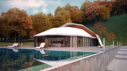 КОНЦЕПТ ВИЛЛЫ / АЛМАТЫ: Дома в . Автор – Lenz Architects