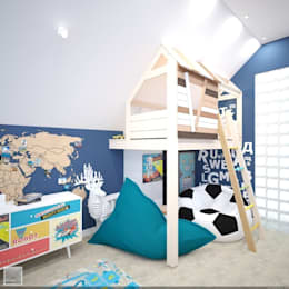Игровая комната: Детские комнаты в . Автор – Burkov Studio