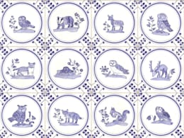 British Wildlife tiles:  Walls & flooring by Reptile tiles & ceramics