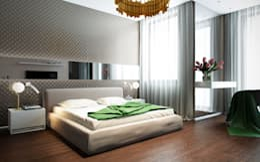 Квартира в ЖК Чемпион-парк: Спальни в . Автор – Михаил Новинский (MNdesign)