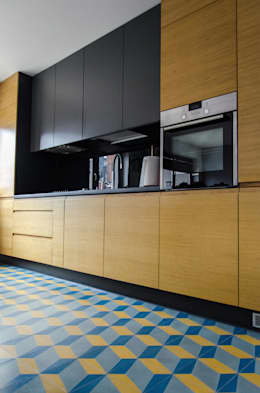 mieszkanie pomiędzy miastami | between big cities: styl , w kategorii Kuchnia zaprojektowany przez Studio Malina