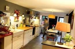 La cuisine:  de style  par Atelier d'Ersu & Blanco