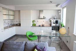 modern Kitchen by Arkadiusz Grzędzicki projektowanie wnętrz