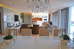 minimalistic Dining room by Larissa Maffra