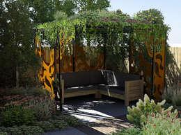 Prieel: moderne Tuin door Bladgoud-tuinen