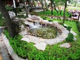 Peyzaj Mimarlık – Restaurant Bahçe Düzenleme: kırsal tarz tarz Bahçe