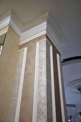 колонна, декоративная краска: Стены и пол в . Автор – студия дизайна архитектурной среды 'S-KVADRAT'
