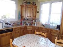 Rustikale Küche Von Les Cuisines De Claudine