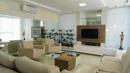 Projekty,  Salon zaprojektowane przez Kubbo Arquitetos