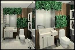 Lavabos: Banheiros modernos por Kubbo Arquitetos